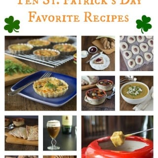 10 of my all time favorite St. Patrick's Day recipes. We have it covered from a soup, stew, fondue, cookies, appetizer, Irish soda bread & whiskey. | ethnicspoon.com