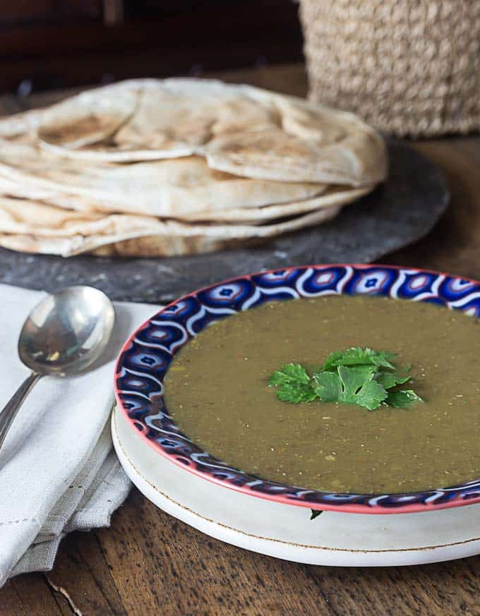 Middle Eastern lentil soup brings bold flavors with a very easy and healthy gluten free recipe. | This is my favorite soup to order when I eat at Middle Eastern restaurants! | ethnicspoon.com