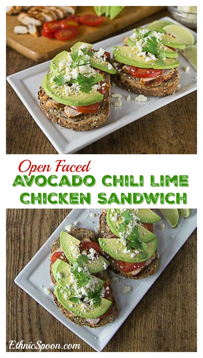 Try a Latin style open face sandwich. Layer some chili lime chicken ...