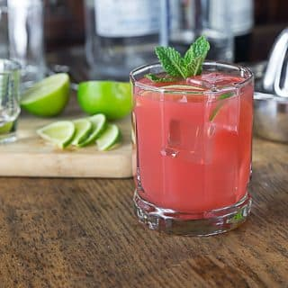 Try a cool and refreshing guava lime cocktail! Squeeze some limes, add tequila and guava juice and a sprig of mint! Simple and delicious! | ethnicspoon.com